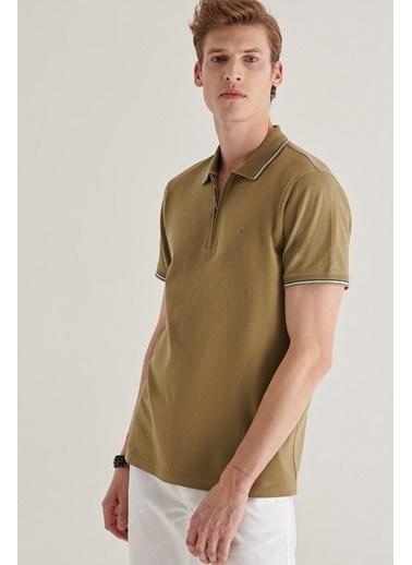 Avva Erkek  Haki Polo Yaka Tişört A11Y1027 Haki